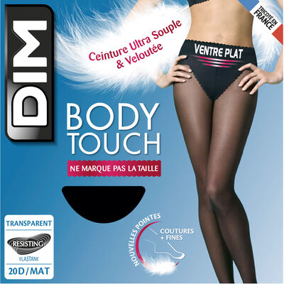 Collant noir Body Touch Ventre Plat 20D, , DIM
