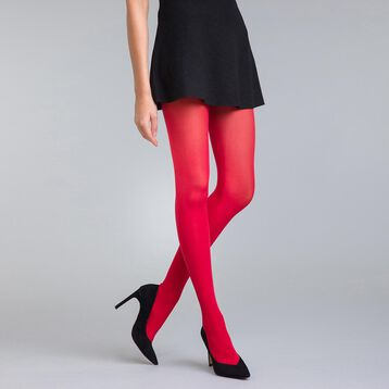 Style 50 velvety intense red opaque tights - DIM