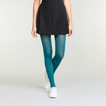Women's Opaque Velvet Tights in Peacock Green Dim Style, , DIM