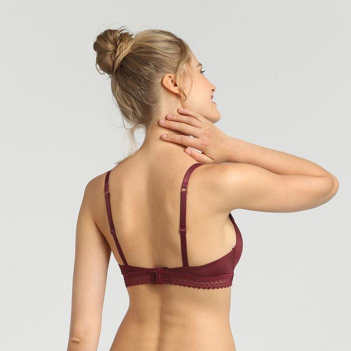 Dim Trendy Micro chocolate wireless padded triangle bra, , DIM