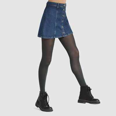 Dim Style 50D opaque velvet tights in dark green, , DIM