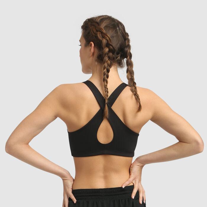 Dim Sport Moderate Impact microfiber padded bra in black, , DIM