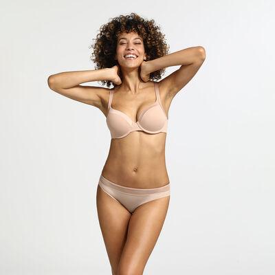 Generous Invisible New Skin padded  underwire bra, , DIM