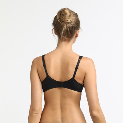 Generous Invisible Dim underwire push-up bra black, , DIM
