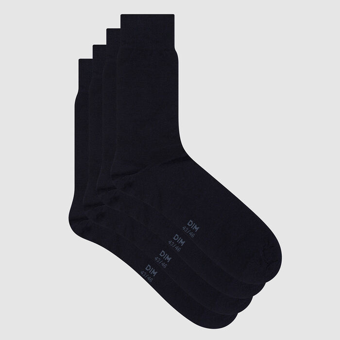 Lot de 2 paires de chaussettes coton mercerisé Marine Fil d'Écosse, , DIM