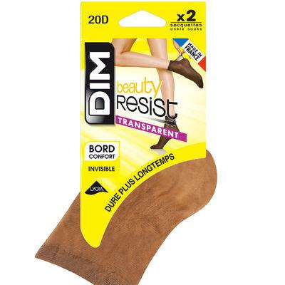 Lot de 2 Socquettes cannelle Beauty Resist 20D, , DIM