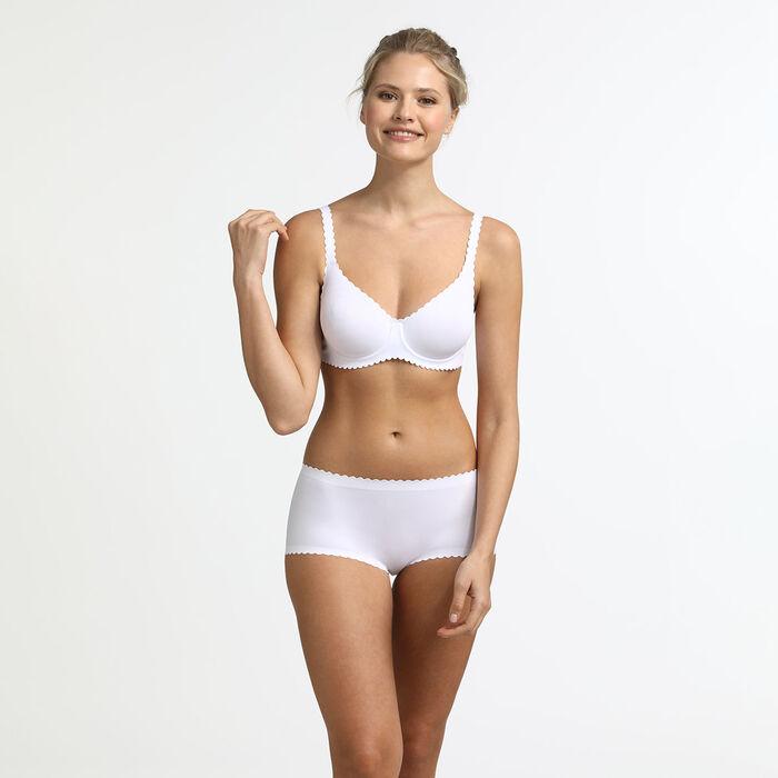 Shorty blanc en microfibre Body Touch Dim, , DIM