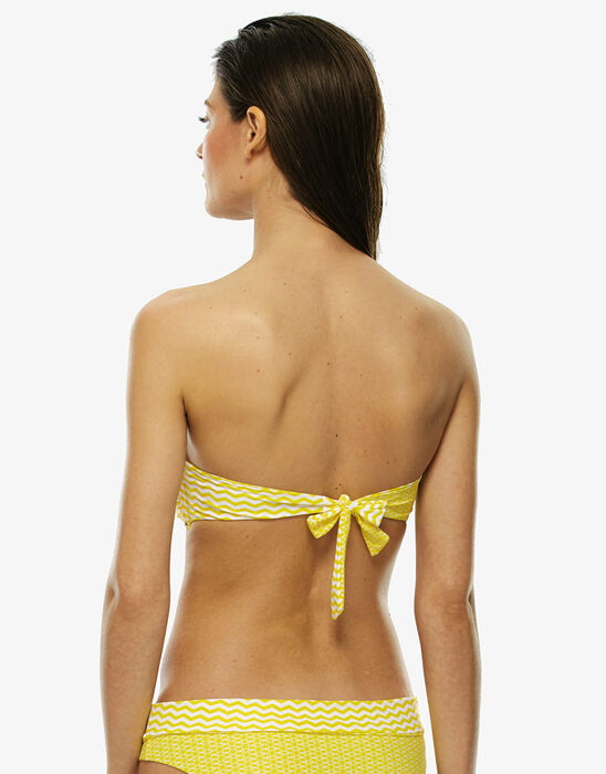Reversible white and yellow bikini top , , LOVABLE