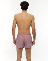 Short de bain court en coton à rayures rouges et blanches, , LOVABLE