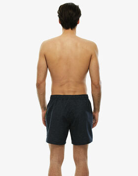 Medium-length mottled grey swim shorts with contrasting edges, , LOVABLE