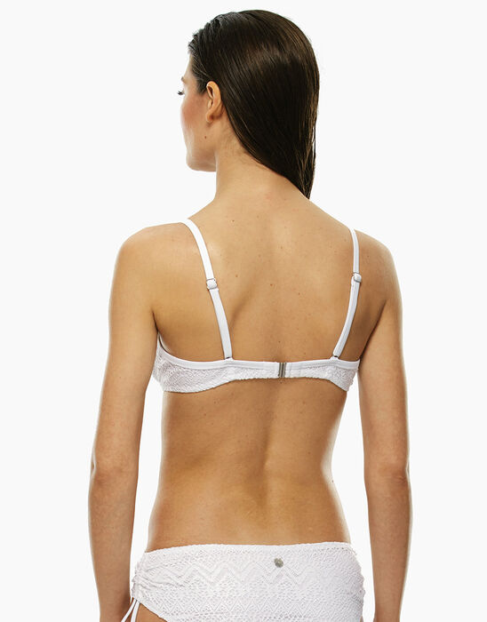 Underwire bikini top with white lace, , LOVABLE