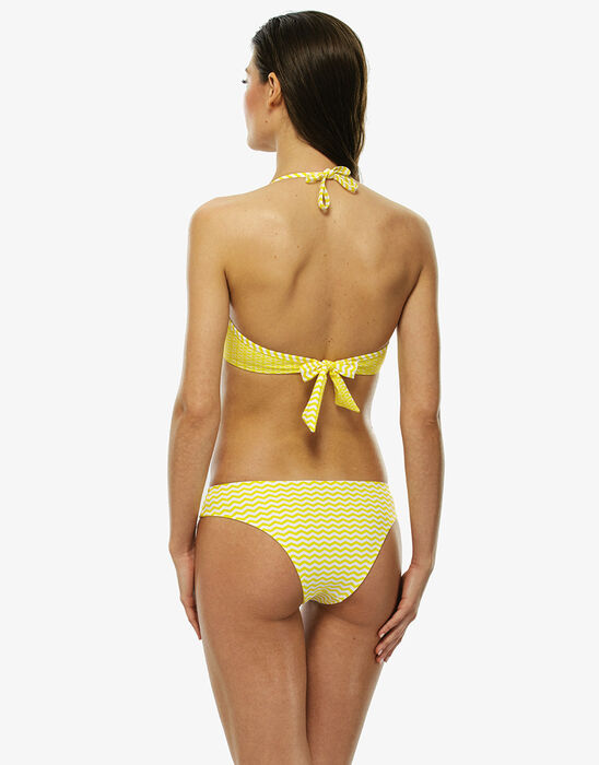 Yellow and white cut-out bikini bottom, , LOVABLE