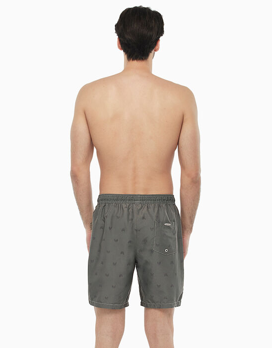 Long grey swim shorts with car print, , LOVABLE