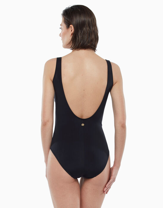 One-piece swimsuit black with gold pin, , LOVABLE