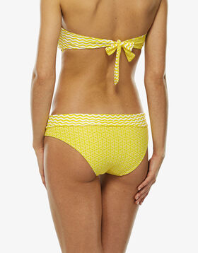 Reversible yellow and white bikini bottom, , LOVABLE