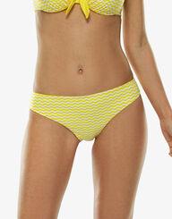 Yellow and white cut-out bikini bottom, , LOVABLE