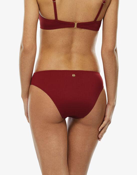 Dark red microfiber bikini bottom, , LOVABLE