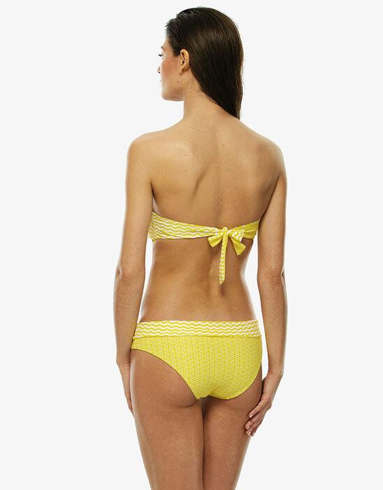 Reversible white and yellow bikini top , , LOVABLE
