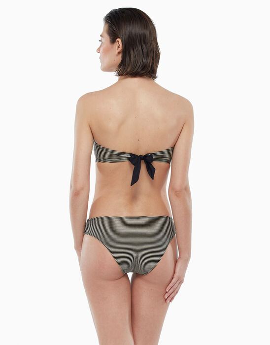 Underwired swimsuit top with gold and black stripes, , LOVABLE