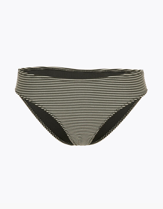 Bas de maillot de bain à rayures dorées et noires, , LOVABLE