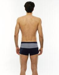 Short de bain ajusté bleu marine avec une bande imprimée, , LOVABLE
