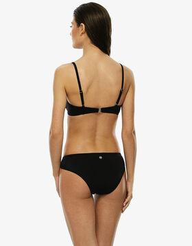 Haut de maillot de bain noir avec armatures, en microfibre et empiècements en résille, , LOVABLE