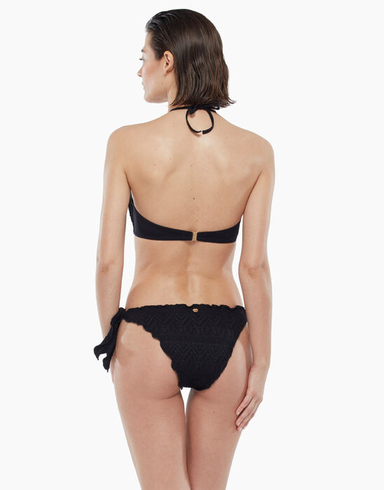 Swimsuit briefs with geometric print in black, , LOVABLE