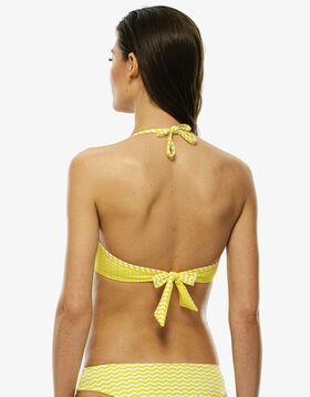 White and yellow underwire bikini top, , LOVABLE