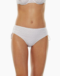 White lace high waist bikini bottom, , LOVABLE
