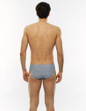Grey and white grahic swim trunks, , LOVABLE
