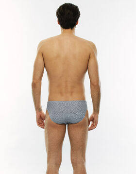 Grey and white grahic swim trunks, , LOVABLE