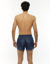 Short de bain court bleu jean imprimé ananas, , LOVABLE