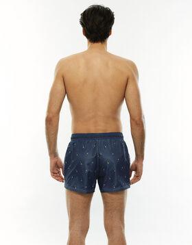 Pineapple printed blue jeans swim shorts, , LOVABLE