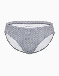 Slip de bain imprimé géométrique gris et blanc, , LOVABLE