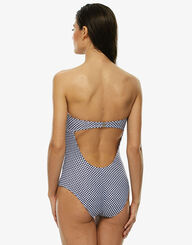 One-piece swimsuit in Vichy print , , LOVABLE