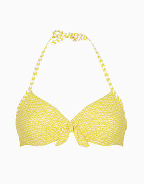 White and yellow underwire bikini top, , LOVABLE