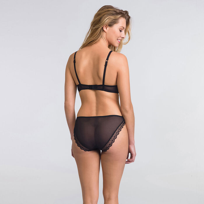 Black push-up triangle bra - Modern Chic-WONDERBRA