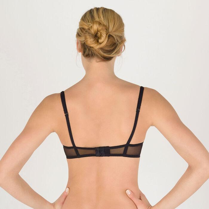 Black push-up balconette bra - Modern Chic-WONDERBRA