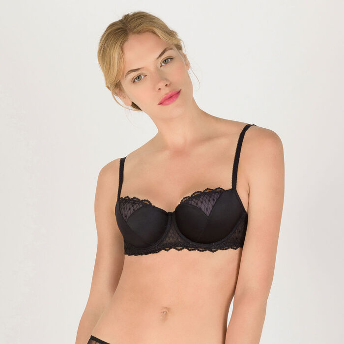 Black push-up balconette bra - Modern Chic-WONDERBRA