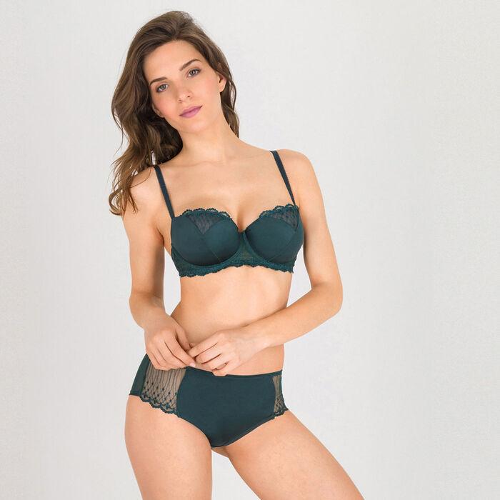 Dark green push-up balconette bra - Modern Chic-WONDERBRA