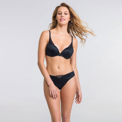 Soutien-gorge push-up Triangle noir - Modern Chic-WONDERBRA