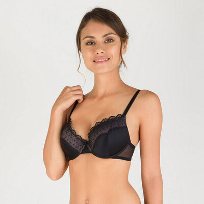 Soutien-gorge T-shirt bra noir - Modern Chic-WONDERBRA