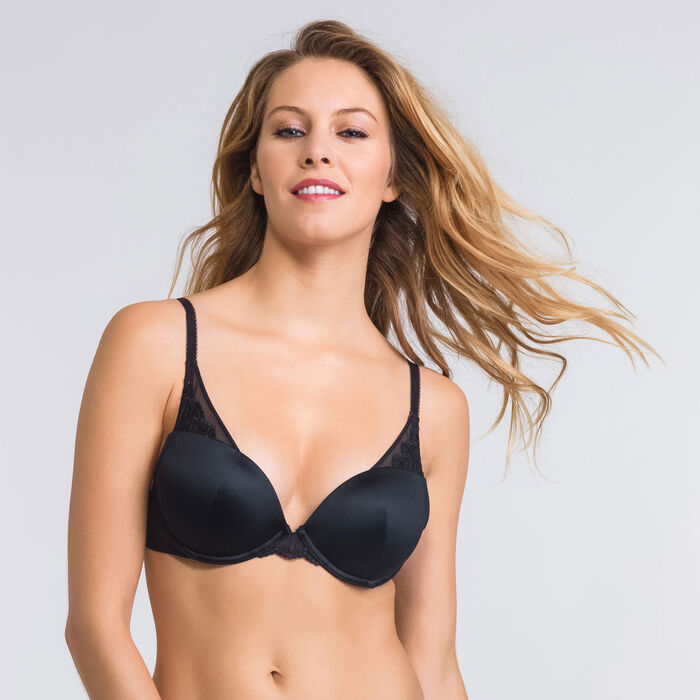 Black push-up triangle bra - Modern Chic-WONDERBRA