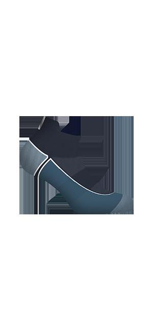 Socquettes courtes impact fort Gris bleu Homme Dim Sport