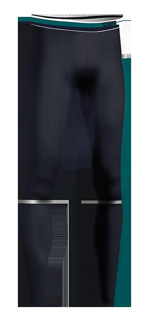 Legging bleu eclipse DIM sport