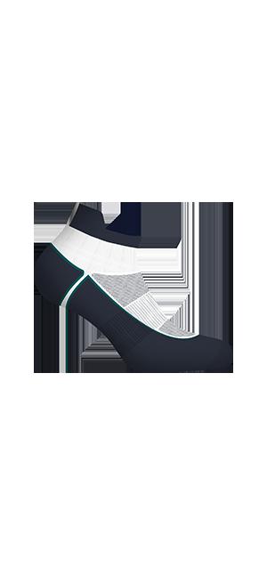Socquettes courtes impact fort bleu Homme Dim Sport