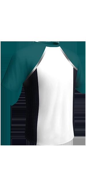 T-shirt blanc et vert DIM Sport