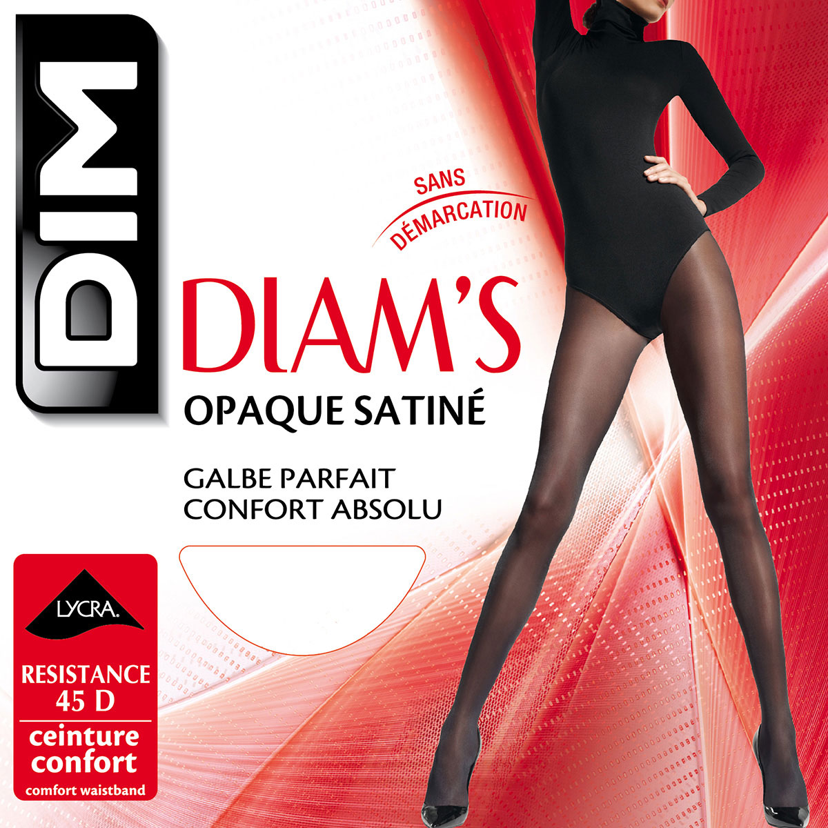 18423eeb9 Black Diam s Jambes Fuselées 45 leg shaper tights