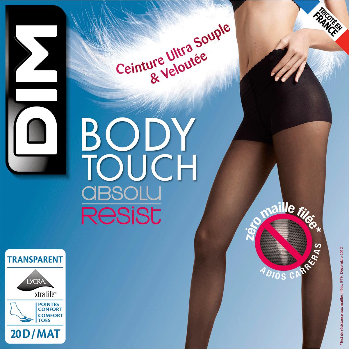Body Touch Absolu Resist 20 ladder resist tights in black 35223c52cd0