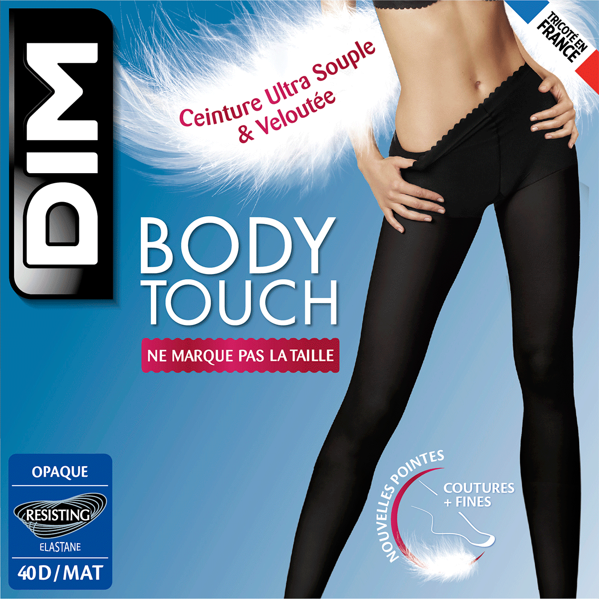 Body Touch Opaque 40 tights in midnight 6296684e711